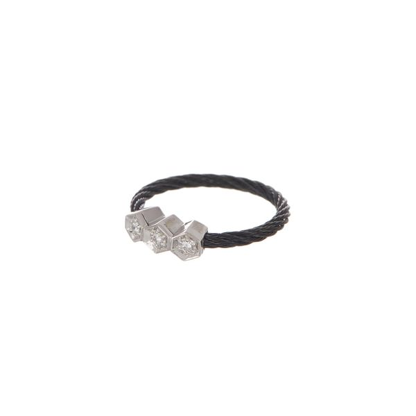 ALOR Black Cable Fashion Ring George Press Jewelers Livingston, NJ