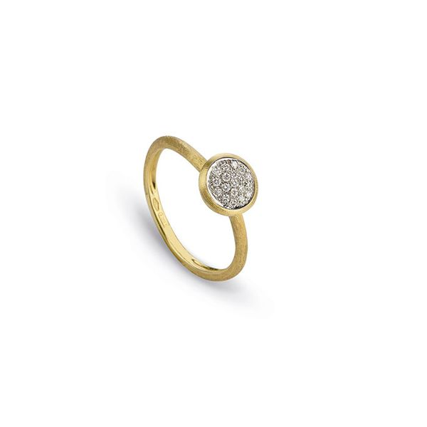 Marco Bicego® 18K Yellow Gold & Pave Diamond Stackable Ring George Press Jewelers Livingston, NJ