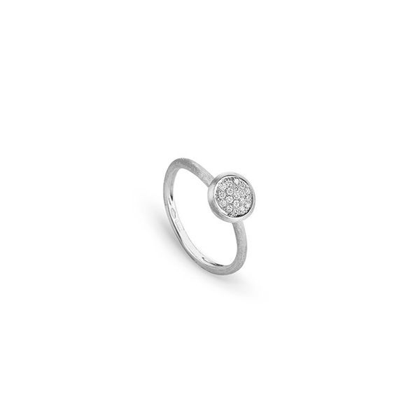 Marco Bicego® 18k White Gold Jaipur Diamond White Stackable Ring George Press Jewelers Livingston, NJ