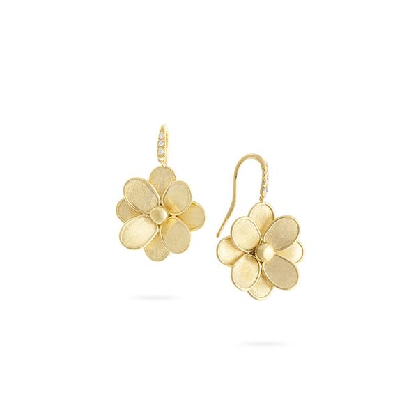 Marco Bicego® Petali Collection French Hook Flower Earrings George Press Jewelers Livingston, NJ