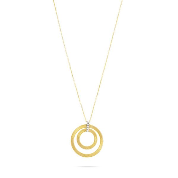 Marco Bicego® Masai Collection 18K Yellow Gold and Diamond Double Circle Long Necklace George Press Jewelers Livingston, NJ