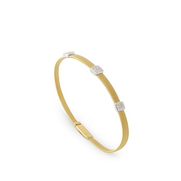 Marco Bicego® 18K Three Station Diamond Bracelet in Yellow Gold George Press Jewelers Livingston, NJ