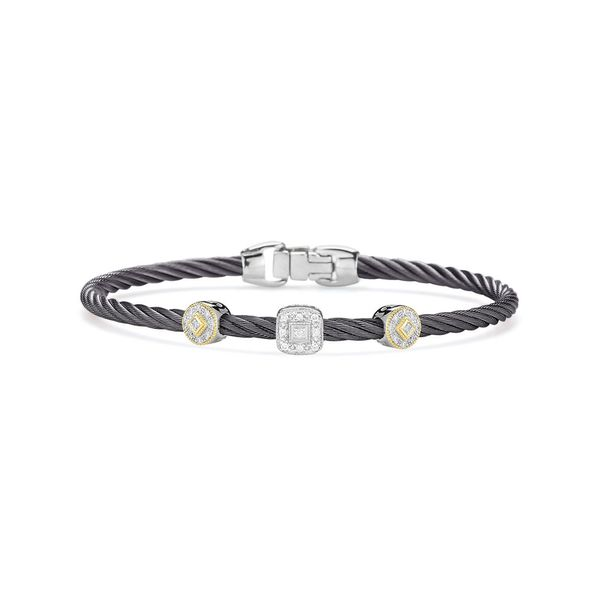 ALOR Grey Cable Essential Stackable Bracelet George Press Jewelers Livingston, NJ