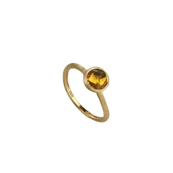 Marco Bicego® 18K Yellow Gold & Rose Cut Cushion Citrine Stackable Ring George Press Jewelers Livingston, NJ