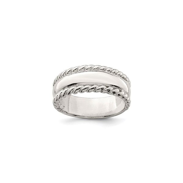 Sterling Silver Twisted Narrow Dome Stacked Ring George Press Jewelers Livingston, NJ