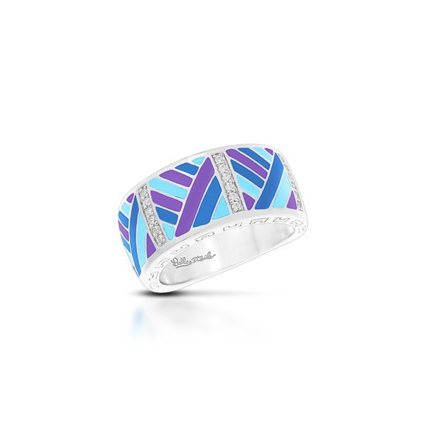 Belle Étoile Sterling Silver Laguna Blue & Purple Enamel Ring George Press Jewelers Livingston, NJ
