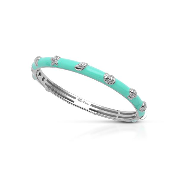 Belle Étoile Seashells Bangle in Aquamarine George Press Jewelers Livingston, NJ