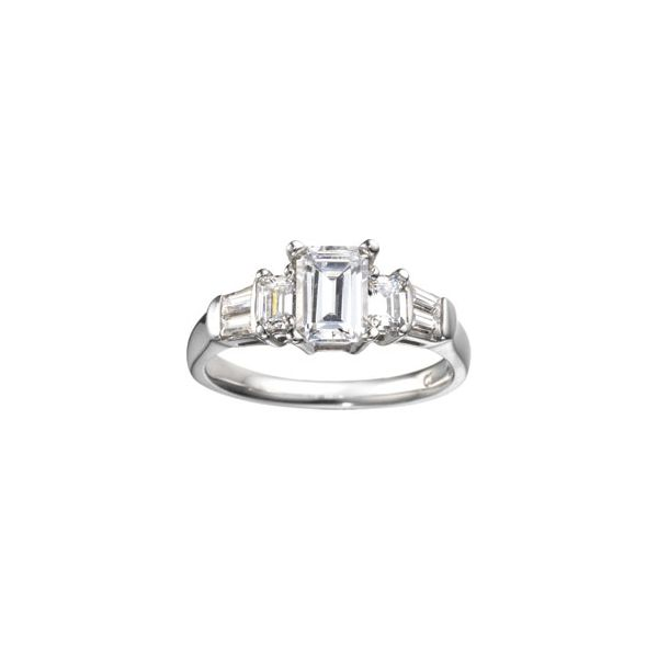Emerald Cut and Tapered Baguette Customizable Ring Georgetown Jewelers Wood Dale, IL