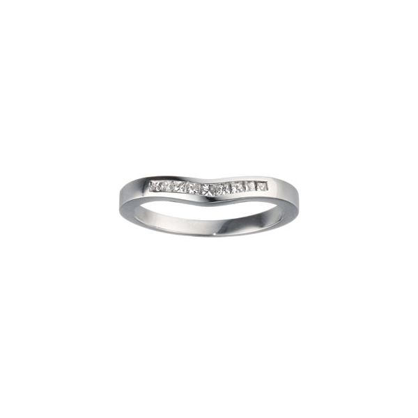 Curved Princess Cut Channel Set Customizable Band Georgetown Jewelers Wood Dale, IL