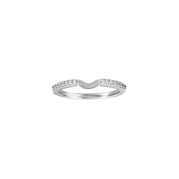 Curved Prong Set Halo-Hugging Customizable Shadow Band Georgetown Jewelers Wood Dale, IL