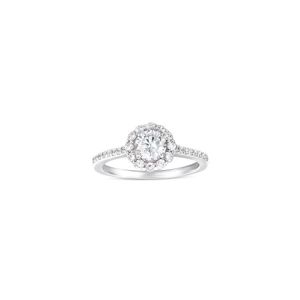 Prong Set Engagement Ring With Round Halo Georgetown Jewelers Wood Dale, IL