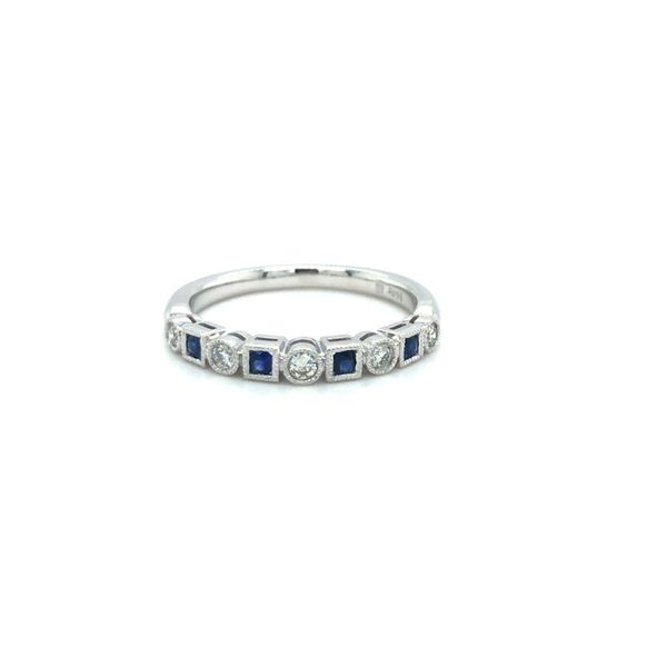 Sapphire & Diamond Stacker Band Georgetown Jewelers Wood Dale, IL