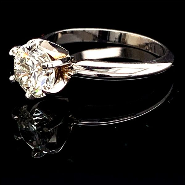 Round Brilliant Cut Diamond Solitaire Engagement Ring, 1.50Ct Image 2 Gerald's Jewelry Oak Harbor, WA