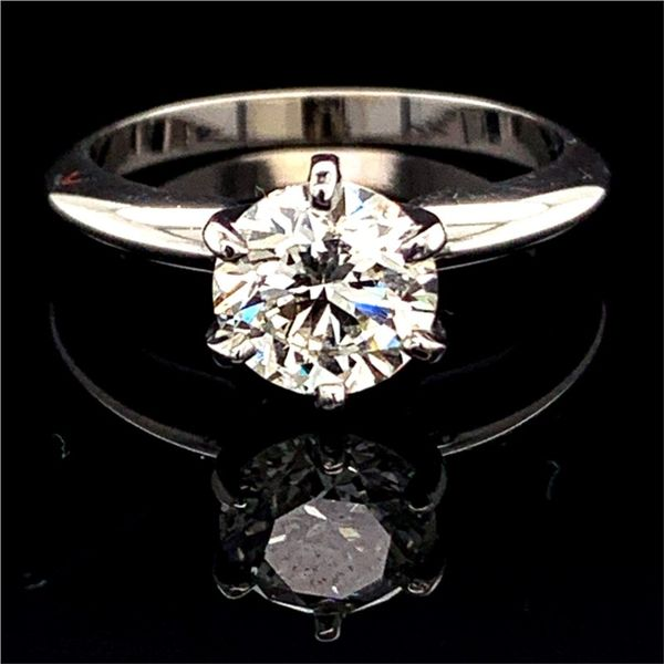 Round Brilliant Cut Diamond Solitaire Engagement Ring, 1.50Ct Gerald's Jewelry Oak Harbor, WA