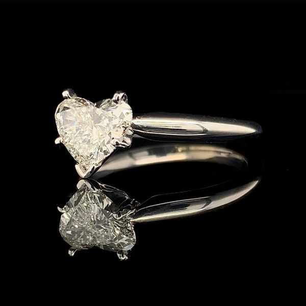 Heart Shape Diamond Solitaire Engagement Ring Image 2 Gerald's Jewelry Oak Harbor, WA