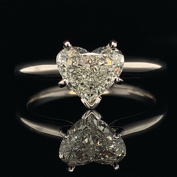Heart Shape Diamond Solitaire Engagement Ring Gerald's Jewelry Oak Harbor, WA