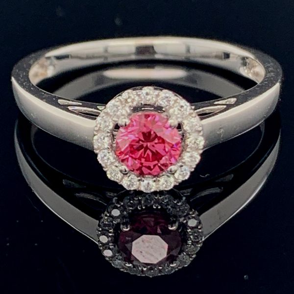 Pink Diamond Wedding Set Image 3 Gerald's Jewelry Oak Harbor, WA