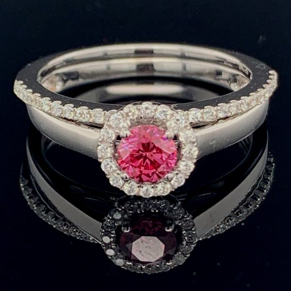 Pink Diamond Wedding Set Gerald's Jewelry Oak Harbor, WA