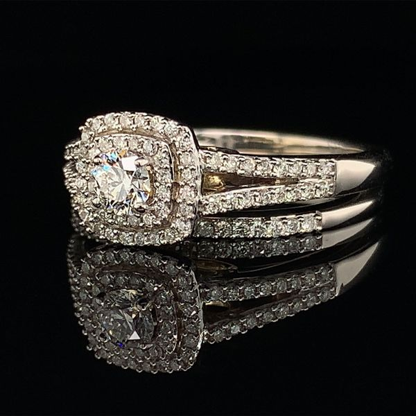 Two-Tone Diamond Wedding Set,