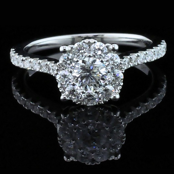 Diamond Halo Engagement Ring Gerald's Jewelry Oak Harbor, WA