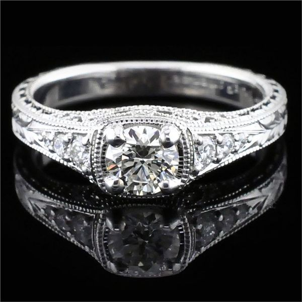 Hearts & Arrows Cut Diamond Engagement Ring Gerald's Jewelry Oak Harbor, WA