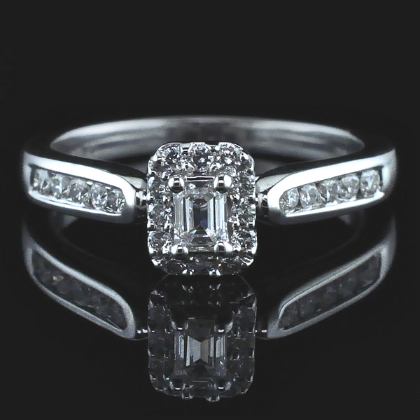 Emerald Cut Diamond Engagement Ring Gerald's Jewelry Oak Harbor, WA