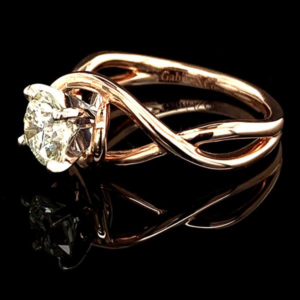 1.02Ct Rose Gold Free Form Engagement Ring Image 2 Gerald's Jewelry Oak Harbor, WA