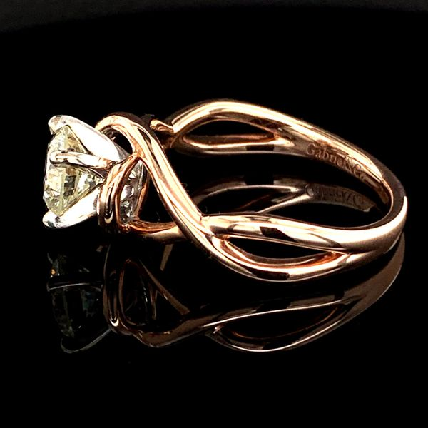 1.02Ct Rose Gold Free Form Engagement Ring Image 3 Gerald's Jewelry Oak Harbor, WA