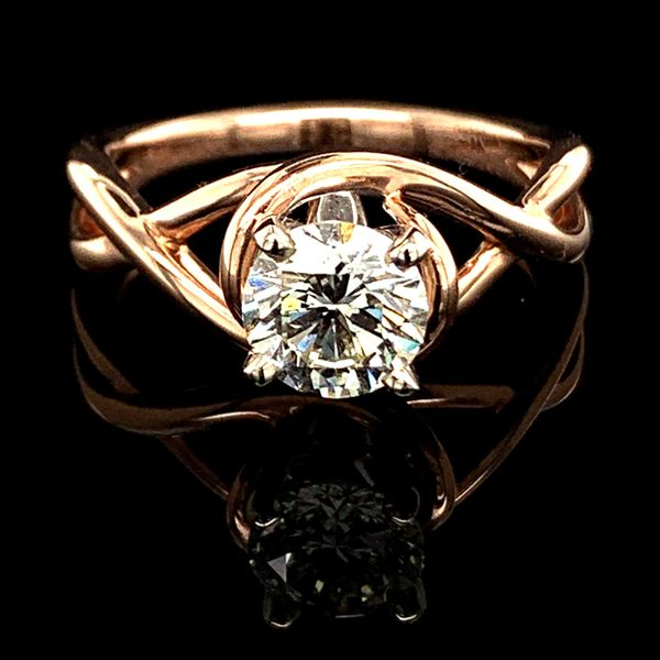 1.02Ct Rose Gold Free Form Engagement Ring Gerald's Jewelry Oak Harbor, WA