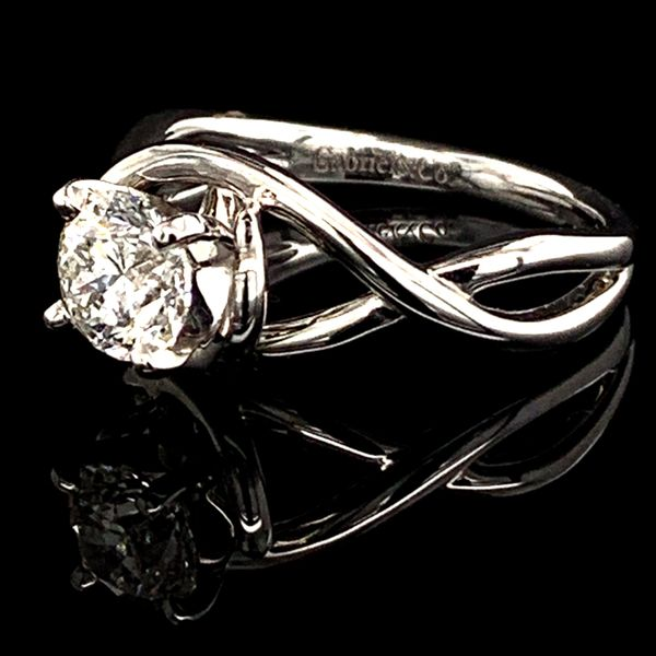 Free Form Diamond Engagement Ring, .90Ct Image 2 Gerald's Jewelry Oak Harbor, WA