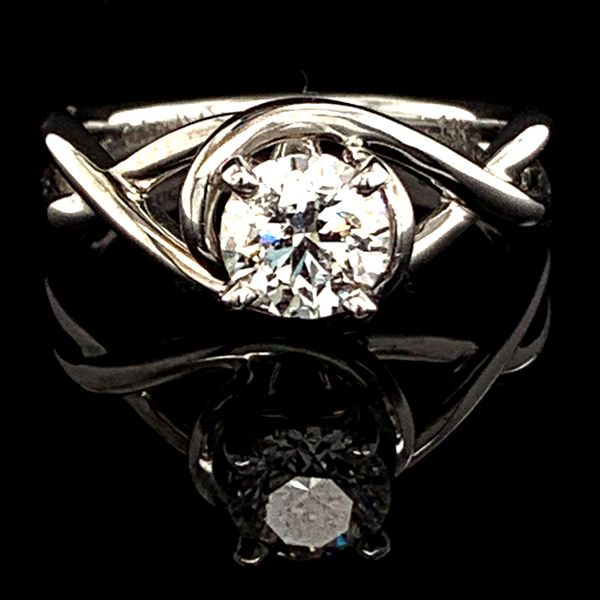 Free Form Diamond Engagement Ring, .90Ct Gerald's Jewelry Oak Harbor, WA