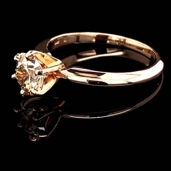 1.03Ct Rose Gold Diamond Solitaire Engagement Ring Image 2 Geralds Jewelry Oak Harbor, WA