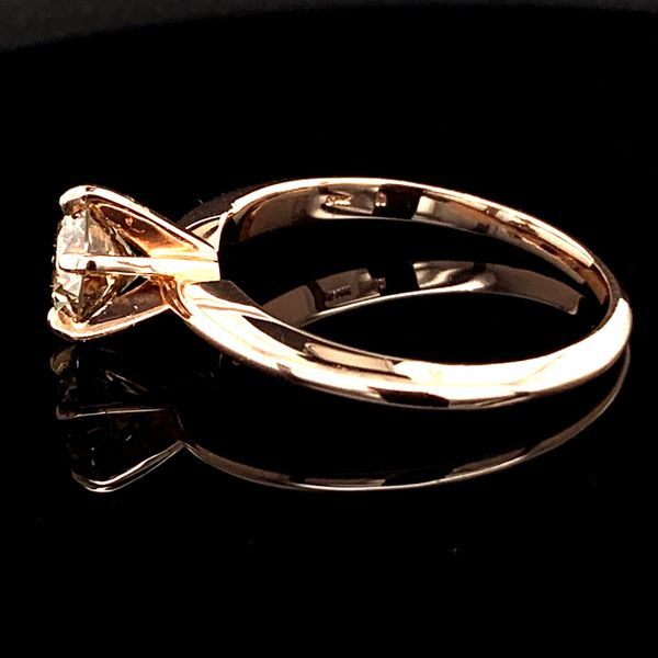 1.03Ct Rose Gold Diamond Solitaire Engagement Ring Image 3 Geralds Jewelry Oak Harbor, WA