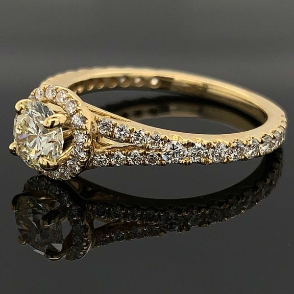 Hearts And Arrows Center Diamond Engagement Ring Image 2 Geralds Jewelry Oak Harbor, WA