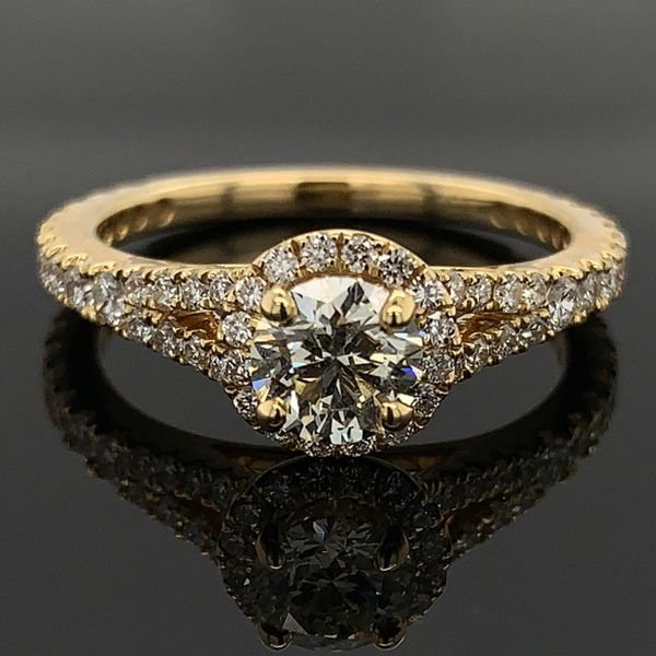 Hearts And Arrows Center Diamond Engagement Ring Geralds Jewelry Oak Harbor, WA