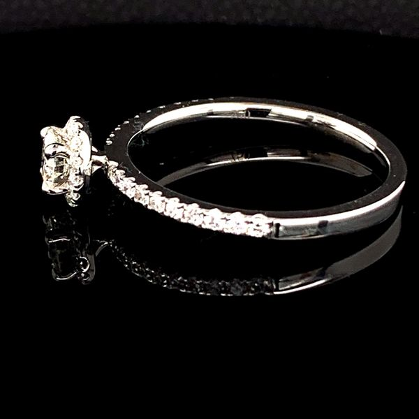 Diamond Halo Engagement Ring, .46Ct Total Weight Image 2 Gerald's Jewelry Oak Harbor, WA