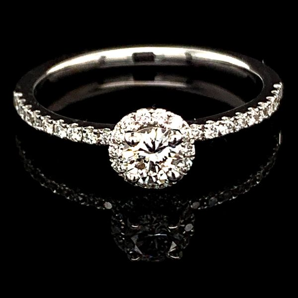 Diamond Halo Engagement Ring, .46Ct Total Weight Gerald's Jewelry Oak Harbor, WA