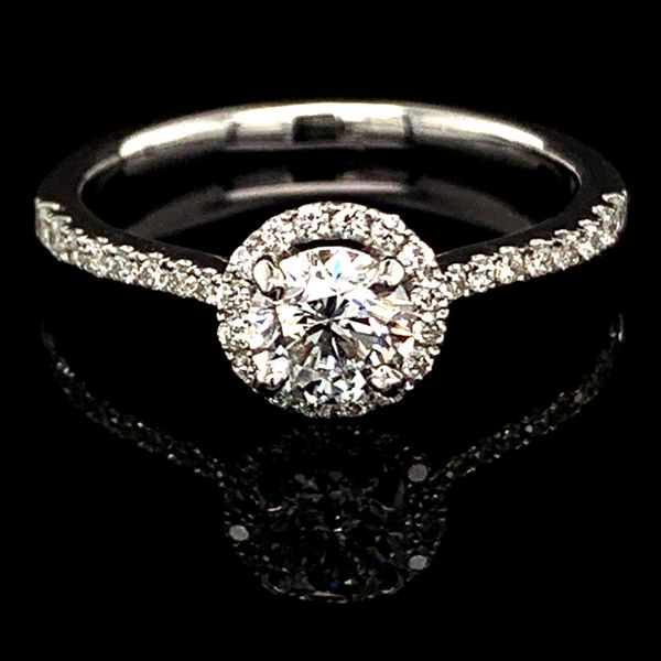 Diamond Halo Engagement Ring, .76Ct Total Weight Gerald's Jewelry Oak Harbor, WA