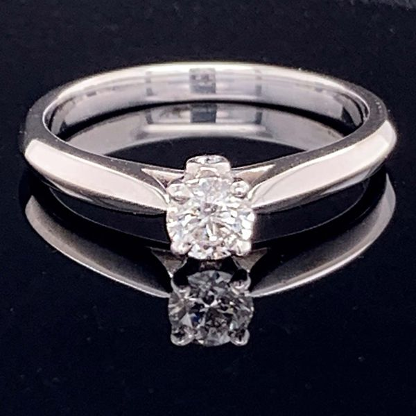 Hearts And Arrows Diamond Solitaire Engagement Ring Gerald's Jewelry Oak Harbor, WA