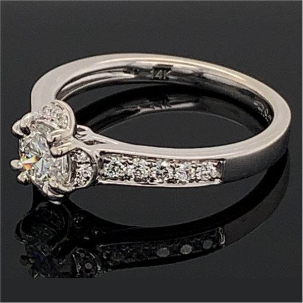 Hearts & Arrows Cut Diamond Engagement Ring Image 2 Gerald's Jewelry Oak Harbor, WA