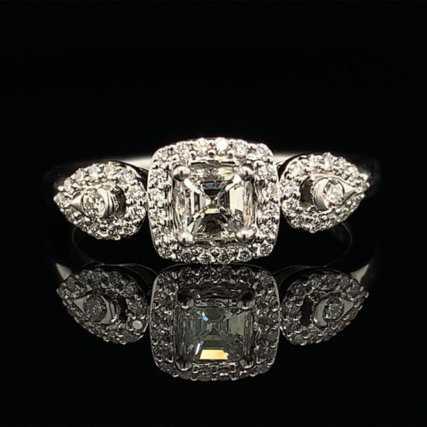 Asscher Cut Diamond Engagement Ring Gerald's Jewelry Oak Harbor, WA