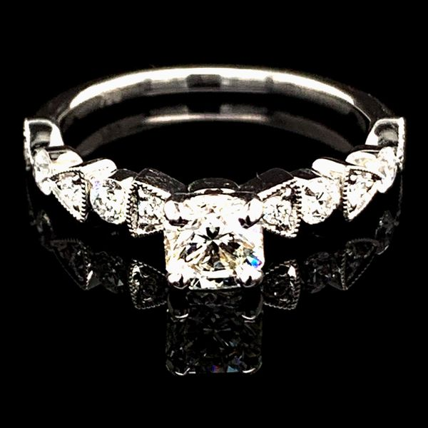 Octagonal Diamond Engagement Ring Geralds Jewelry Oak Harbor, WA