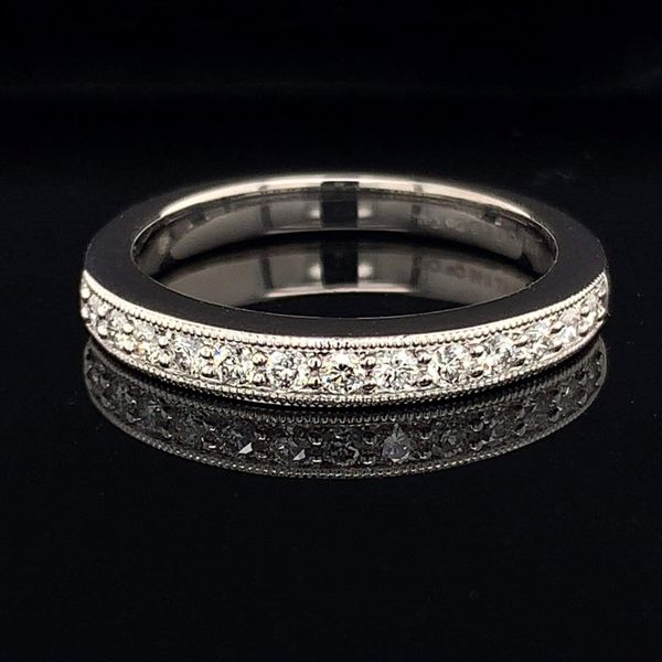 .585 Platinum And Hearts and Arrows Diamond Wedding Set Image 4 Gerald's Jewelry Oak Harbor, WA