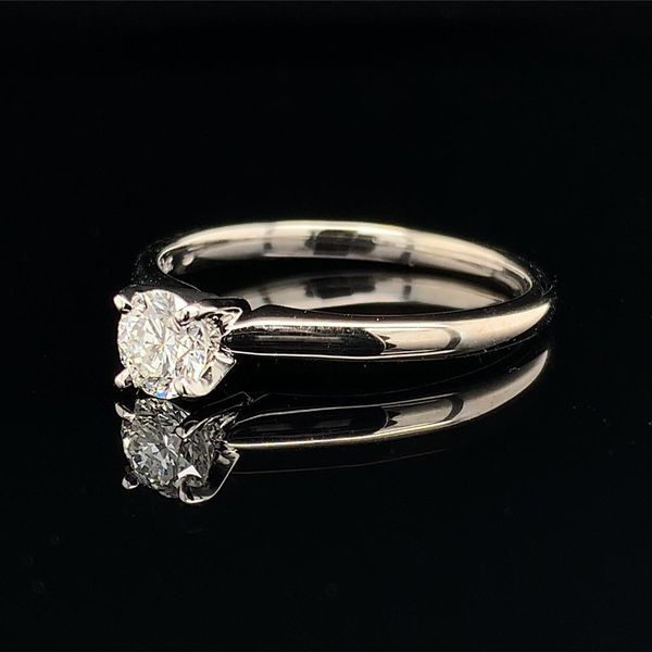 .36ct Round Hearts & Arrows Diamond Solitaire Engagement Ring Image 2 Gerald's Jewelry Oak Harbor, WA