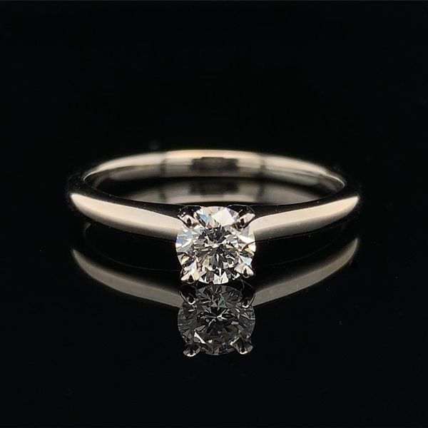 .36ct Round Hearts & Arrows Diamond Solitaire Engagement Ring Gerald's Jewelry Oak Harbor, WA