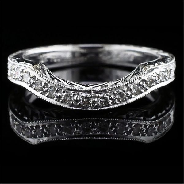 Hand Carved Diamond Wedding Band Gerald's Jewelry Oak Harbor, WA