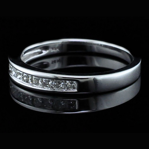 Princess Cut Diamond Wedding Band Image 2 Gerald's Jewelry Oak Harbor, WA