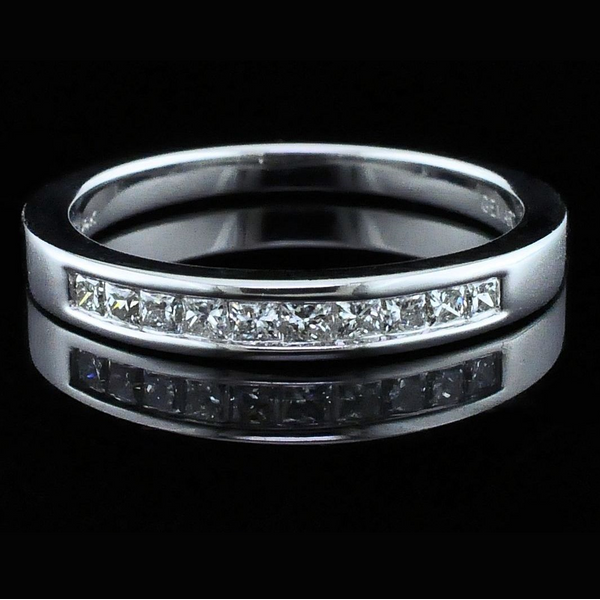Princess Cut Diamond Wedding Band Gerald's Jewelry Oak Harbor, WA