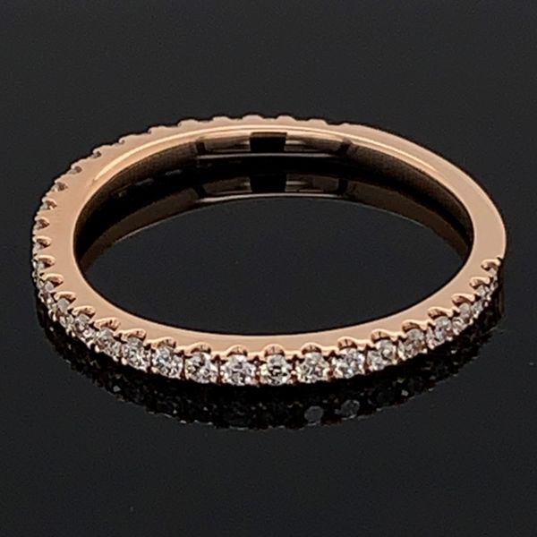 18K Rose Gold Diamond Wedding Band Image 2 Gerald's Jewelry Oak Harbor, WA