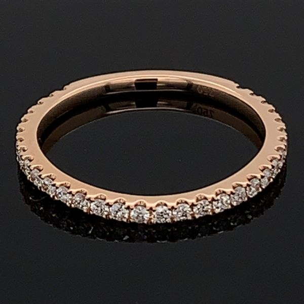18K Rose Gold Diamond Wedding Band Gerald's Jewelry Oak Harbor, WA